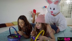 Easter Egg Hunt gets Bunny Fucked by Hot BFF and StepSis!