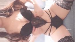 九尾狐狸m黑色內衣套裝