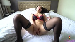 My Asian Girlfriend Masturbating then Anal Fucked