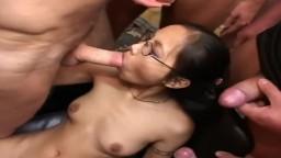 Bukkake Gangbang for Sexy Cum Loving Asian Teen