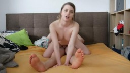 Jamie Young gets Reverse Cowgirl Creampie and Swallows the Cum