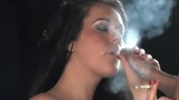 British Hot Brunette Smoking Fetish Fuck