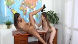 Lesbian Teacher Seduces Student with Piss
