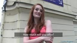 PublicAgent Sexy Czech Redhead Fucks Wildly at Public Garage
