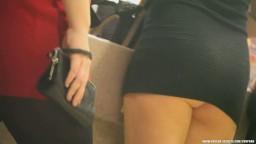 Accidentally Naked Ass in Too Short Miniskirt