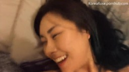 Asian American Couple Sneaky Livingroom Fuck and Facial