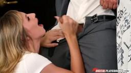 Tall Blonde Pornstar Jillian Janson Deep Throat Blowjob