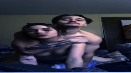Boyfriend Trashes Parents Room and Fucks Sexy Green Eyed Girlfriend
