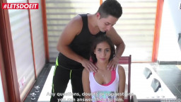 Fresh Colombian Teen makes her very first Porn Movie