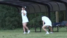 Abused Japanese Girls when they Pee Open Field