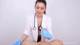 POV Emergency Nurse Blue Latex Gloves Handjob