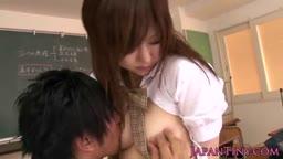 Japanese schoolgirl face creamed in classroom