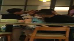【偷拍】蘭桂坊 LKF 翠華流出..蒲精當眾性高潮 淫娃拉低底褲枱底任摸 1