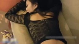Amateur Taiwanese Girl and White Guy in Nice Hotel
