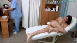 Doctor Takes Care Of Her Moist Vagina And Tight Pink Anus