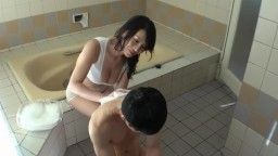 Crazy hot asian mom and her son playin'
