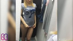Public Squirt in Dressing Room!