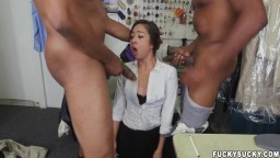 Asian Interracial Double Penetration
