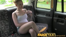 FakeTaxi Lesbian gets Tricked into taking Big Cock