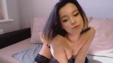 Cute Japanese Camgirl striping for you!