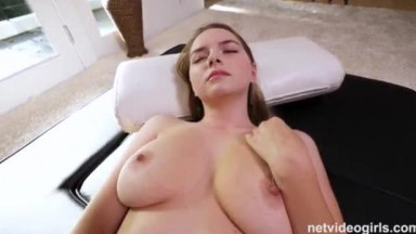 Perfect big natural tits on this hot college girl