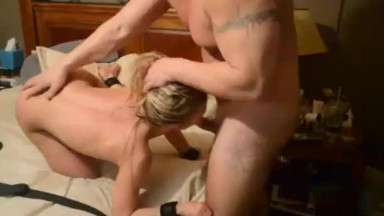 Big dick stranger dominates tiny slutwife